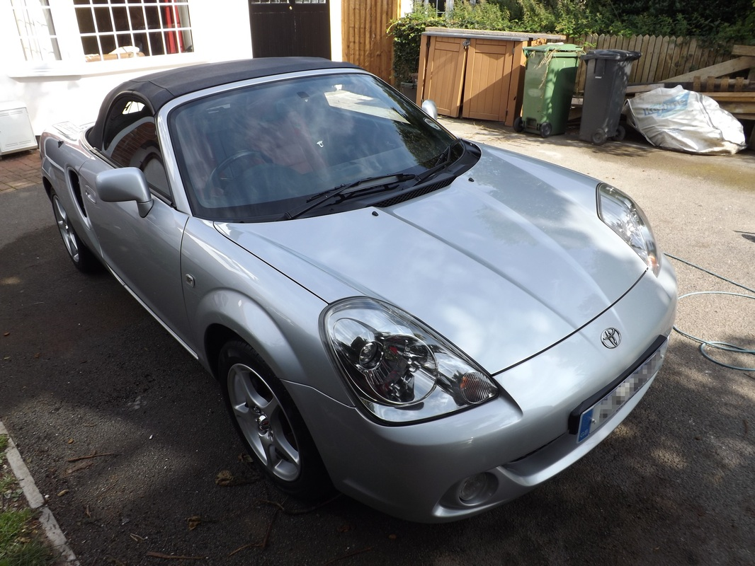 Toyota MR2 after valeting near Burnham-On-Sea
