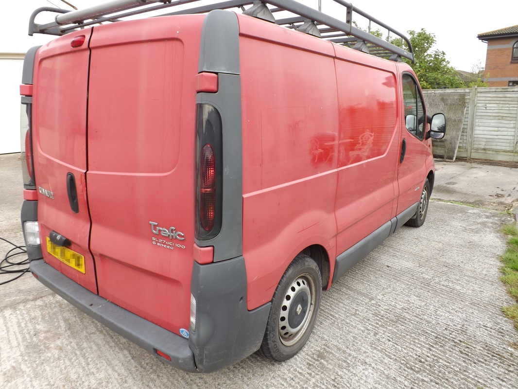2004 Renault Trafic van before pre-sale valeting near Burnham-On-Sea