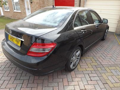 Mercedes Benz C220 before pre-sale valeting in Bridgwater