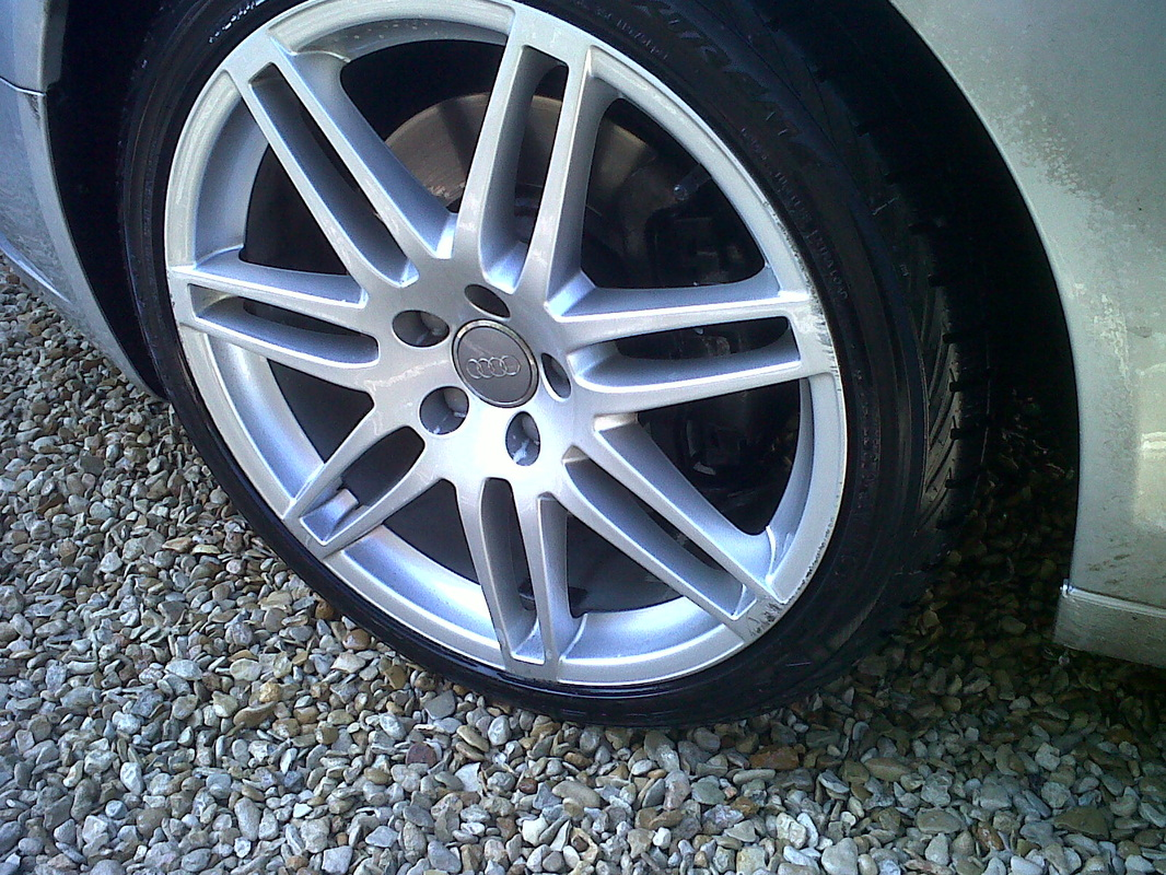 Alloy wheel after valeting