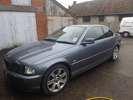 BMW 330ci before pre-sale valeting in Street, Somerset