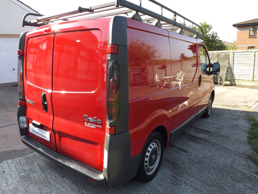 Renault Trafic van after pre-sale valeting near Burnham-On-Sea