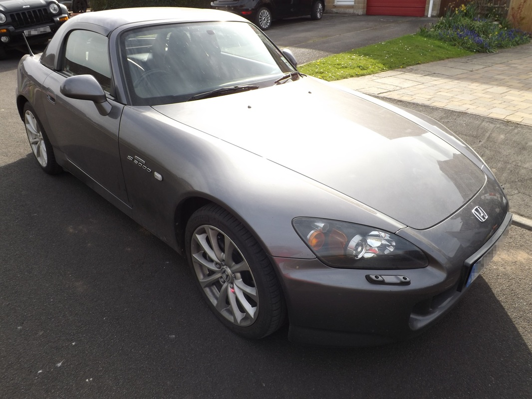 Honda S2000 before valeting in Wells, Somerset