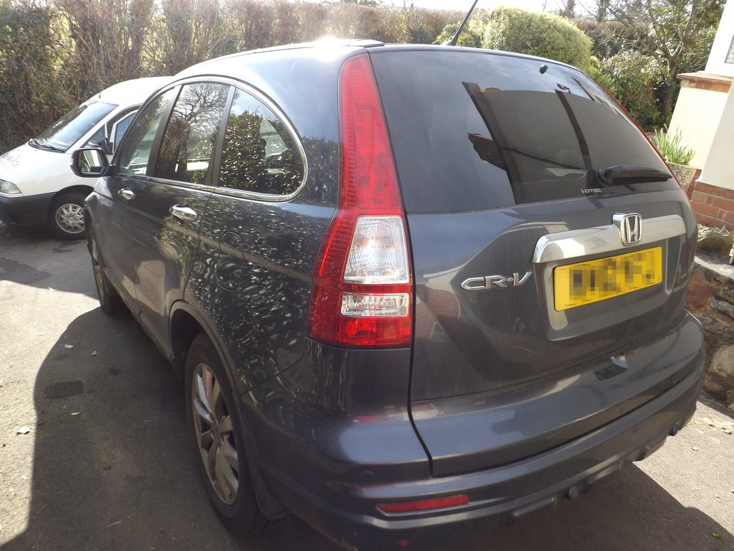 Honda CR-V before valeting in Blagdon