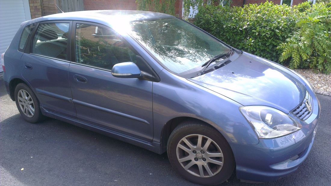Honda Civic before valeting in Glastonbury