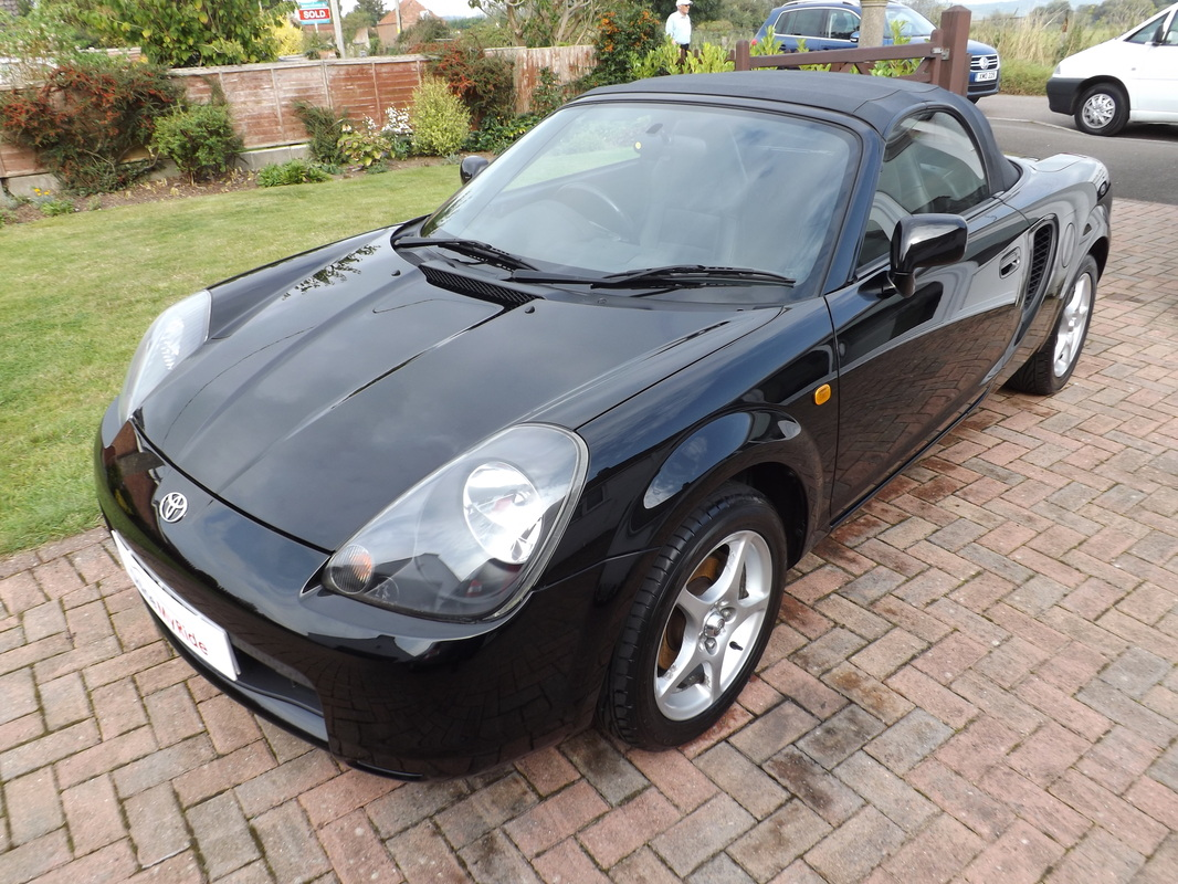 Toyota MR2 Roadster after valeting near Bridgwater, Somerset