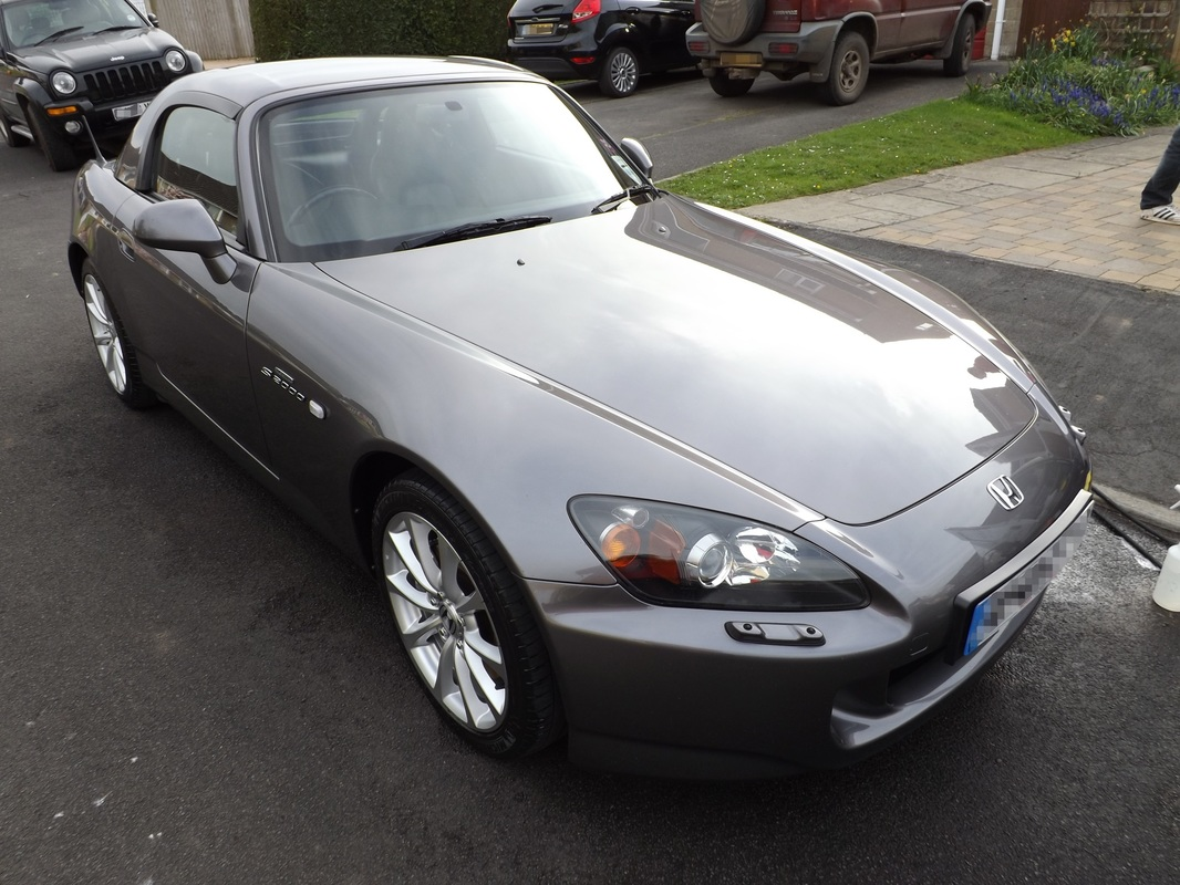 Honda S2000 after valeting in Wells, Somerset
