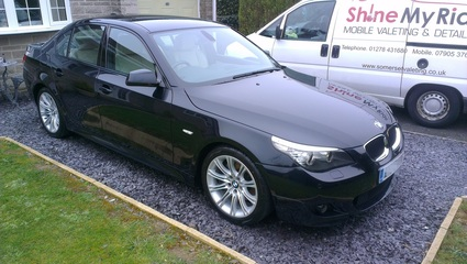 BMW 520d after pre-sale valeting near Street, Somerset
