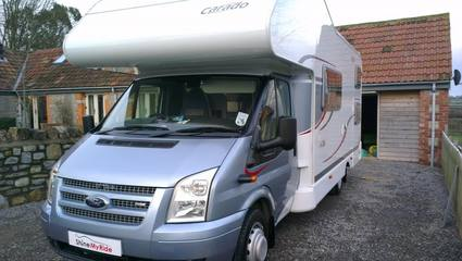 Hymer Carado motorhome after pre-sale valeting