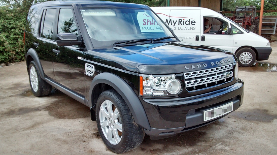 Land Rover Discovery4 Commercial after valeting near Glastonbury