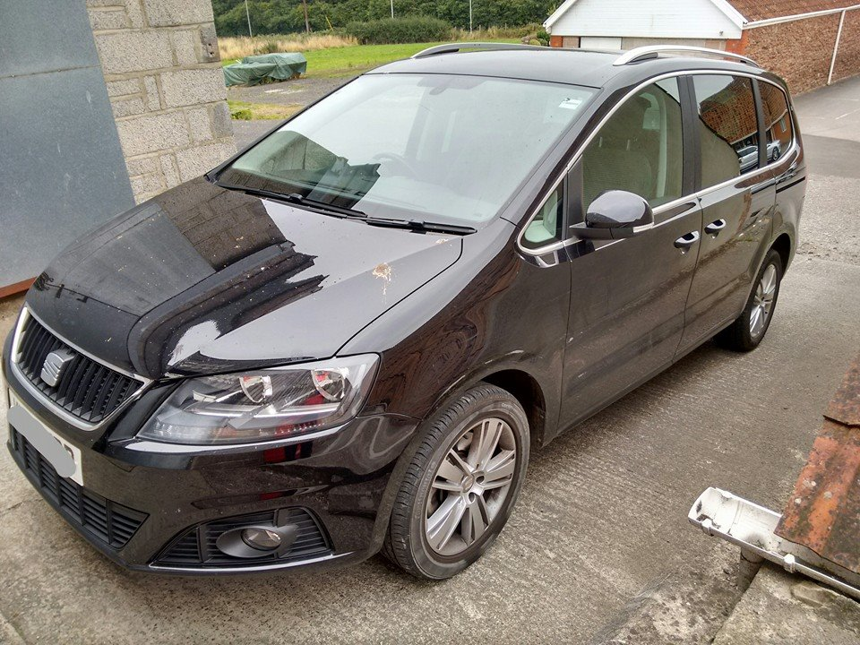 Seat Alhambra before valeting in Banwell, Weston-Super-Mare