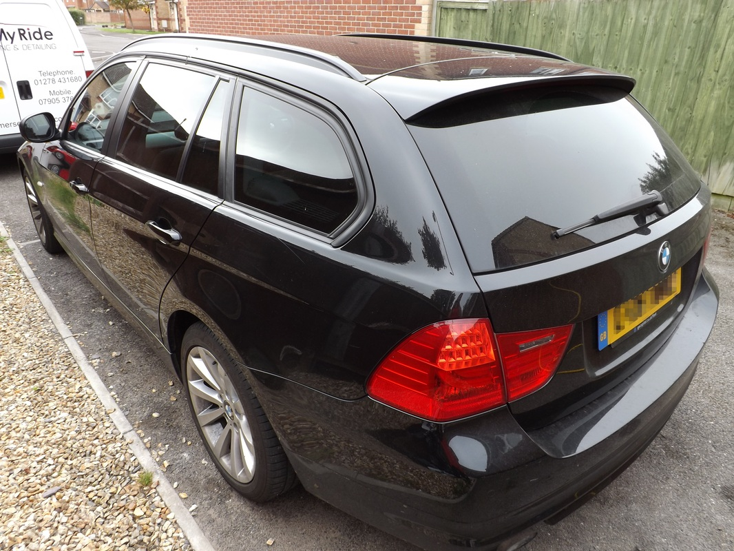 BMW 3-Series Estate before valeting in Street, Somerset